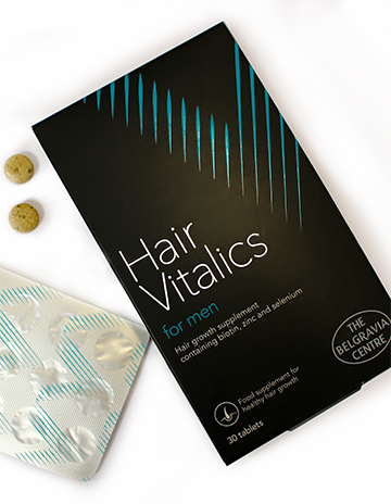 Men's hair vitamins Hair Vitalics for Men Belgravia Centre hair growth