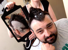 Lizard Haircut Raises Money for Macmillan 'Shave or Style' Campaign