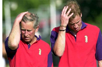 Prince William shows signs of hair loss like his father Prince Charles