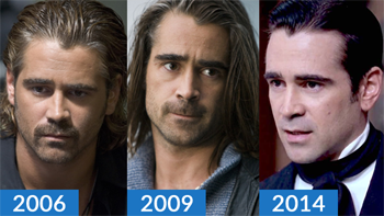 Colin Farrell Appears to Have Had a Slowly Receding Hairline in the Past