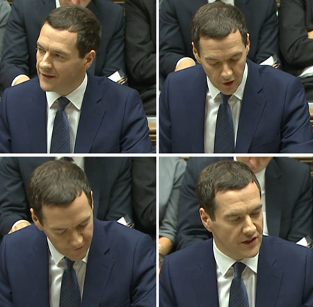 Chancellor George Osborne Shows Signs of Thinning Hair During Budget Speech