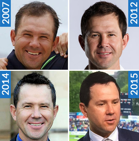 Cricketer Ricky Ponting Has Dyed His Hair Black Possibly to Make Thinning Hair Look Thicker