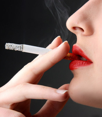 Many Young Women Class Themselves as Light Smokers