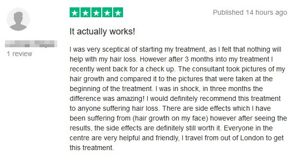 trustpilot review female pattern hair loss the belgravia centre 07 11 2018