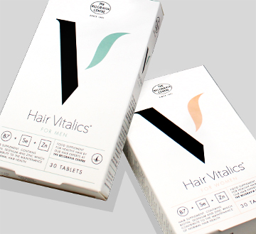 Hair Vitalics for Women Hair Vitalics for Men food supplement for healthy hair growth from The Belgravia Centre Hair Clinic London